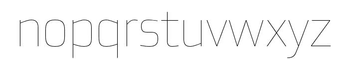 Utility Pro Thin Font LOWERCASE