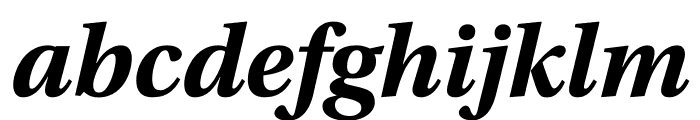 Utopia Std Bold Display Italic Font LOWERCASE