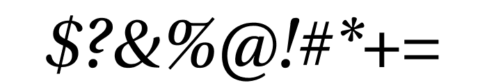 Utopia Std Display Italic Font OTHER CHARS