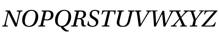 Utopia Std Display Italic Font UPPERCASE