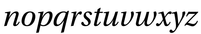 Utopia Std Display Italic Font LOWERCASE
