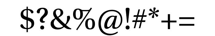 Utopia Std Display Font OTHER CHARS