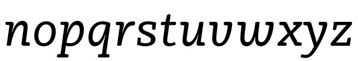 Vaccine Italic Regular Font LOWERCASE