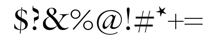 Verdigris MVB Pro Text Italic Font OTHER CHARS