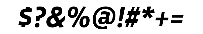 Vista Sans Nar OTCE Bold Italic Font OTHER CHARS