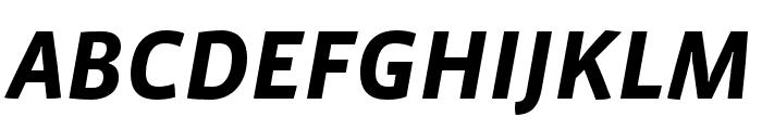 Vista Sans Nar OTCE Bold Italic Font UPPERCASE