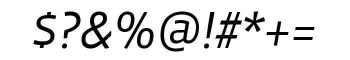 Vista Sans Nar OTCE Book Italic Font OTHER CHARS