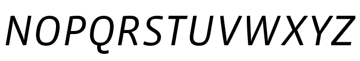 Vista Sans Nar OTCE Book Italic Font UPPERCASE