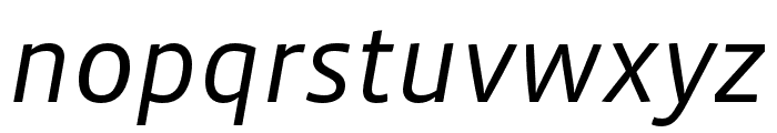 Vista Sans Nar OTCE Book Italic Font LOWERCASE