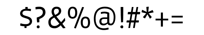 Vista Sans Nar OTCE Book Font OTHER CHARS