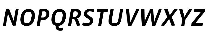 Vista Sans Nar OTCE Medium Italic Font UPPERCASE