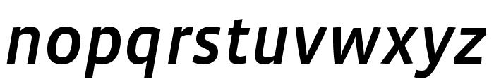 Vista Sans Nar OTCE Medium Italic Font LOWERCASE