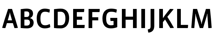 Vista Sans Nar OTCE Medium Font UPPERCASE