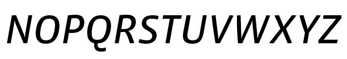 Vista Sans Nar OTCE Reg Italic Font UPPERCASE