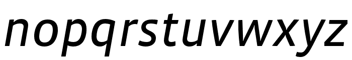 Vista Sans Nar OTCE Reg Italic Font LOWERCASE
