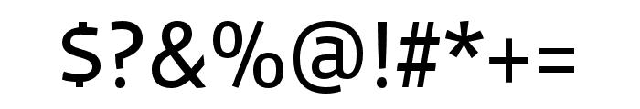 Vista Sans Nar OTCE Reg Font OTHER CHARS