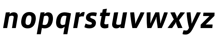 Vista Sans OTCE Bold Italic Font LOWERCASE