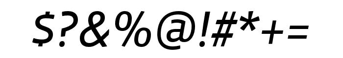 Vista Sans OTCE Reg Italic Font OTHER CHARS