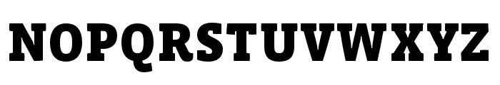 Vista Slab OTCE Black Font UPPERCASE