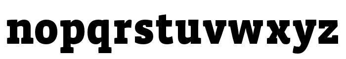 Vista Slab OTCE Black Font LOWERCASE