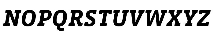 Vista Slab OTCE Bold Italic Font UPPERCASE