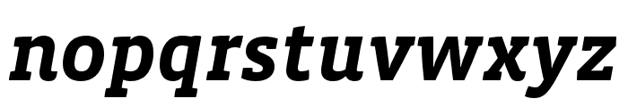 Vista Slab OTCE Bold Italic Font LOWERCASE