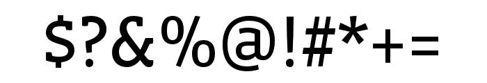 Vista Slab OTCE Reg Font OTHER CHARS
