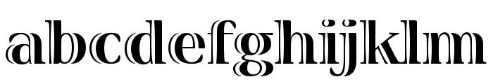 Viva Std Bold ExtraExtended Font LOWERCASE