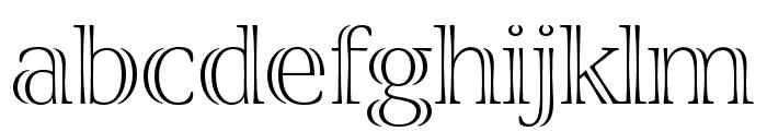 Viva Std Light ExtraExtended Font LOWERCASE