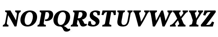 Vollkorn ExtraBold Italic Font UPPERCASE