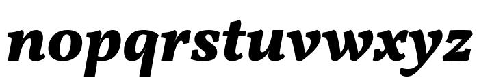 Vollkorn ExtraBold Italic Font LOWERCASE