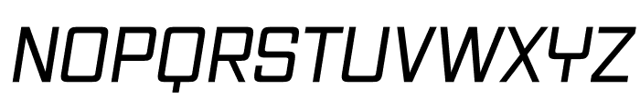 Vox Medium Italic Font UPPERCASE