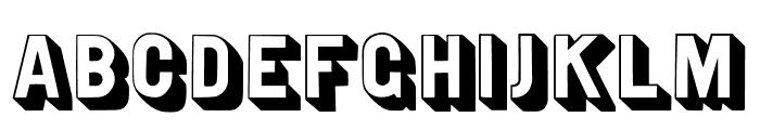 WTR Gothic Open Shaded Regular Font UPPERCASE