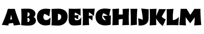 Wak Black Font UPPERCASE
