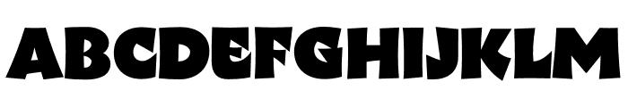 Wak Black Font LOWERCASE