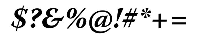 Warnock Pro Bold Italic Caption Font OTHER CHARS
