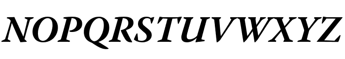 Warnock Pro Bold Italic Caption Font UPPERCASE