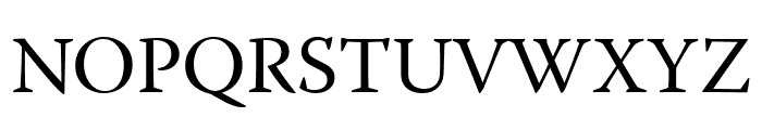 Warnock Pro Display Font UPPERCASE
