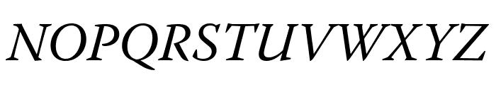 Warnock Pro Italic Caption Font UPPERCASE