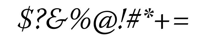 Warnock Pro Light Italic Subhead Font OTHER CHARS
