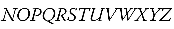 Warnock Pro Light Italic Subhead Font UPPERCASE