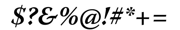 Warnock Pro Semibold Italic Subhead Font OTHER CHARS