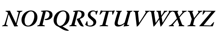 Warnock Pro Semibold Italic Subhead Font UPPERCASE