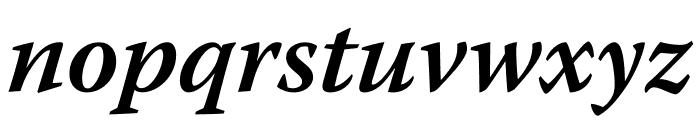 Warnock Pro Semibold Italic Subhead Font LOWERCASE