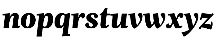 Whitman Display Extra Black Italic Font LOWERCASE