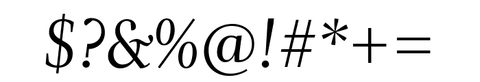 Whitman Display Italic Font OTHER CHARS