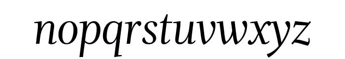 Whitman Display Italic Font LOWERCASE