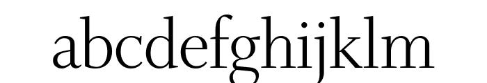 Whitman Display Light Font LOWERCASE