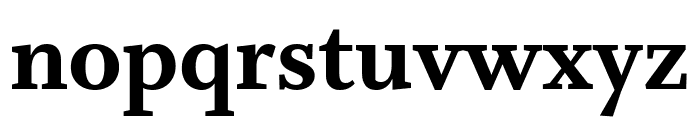 Whitman Extra Bold Font LOWERCASE