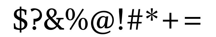 Whitman Semi Bold Font OTHER CHARS